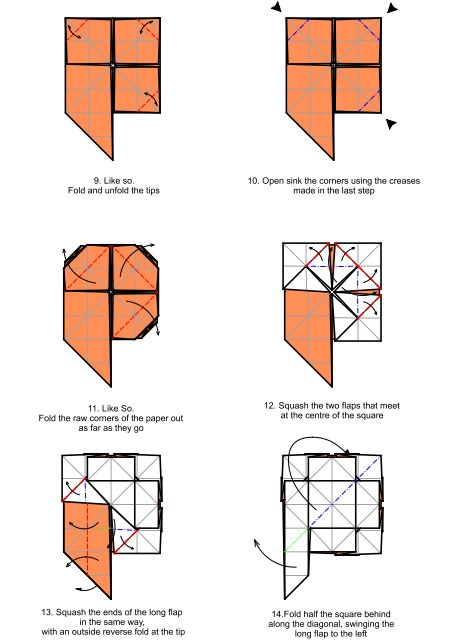 Star Wars Origami Diagrams And Crease Patterns